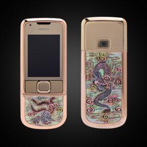 Nokia 8800 Vàng hồng long phụng 01