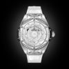 HUBLOT BIG BANG ONE CLICK SANG BLEU STEEL WHITE DIAMONDS 39MM