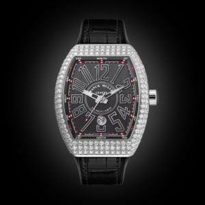 Franck Muller V41 Steel Full Diamonds