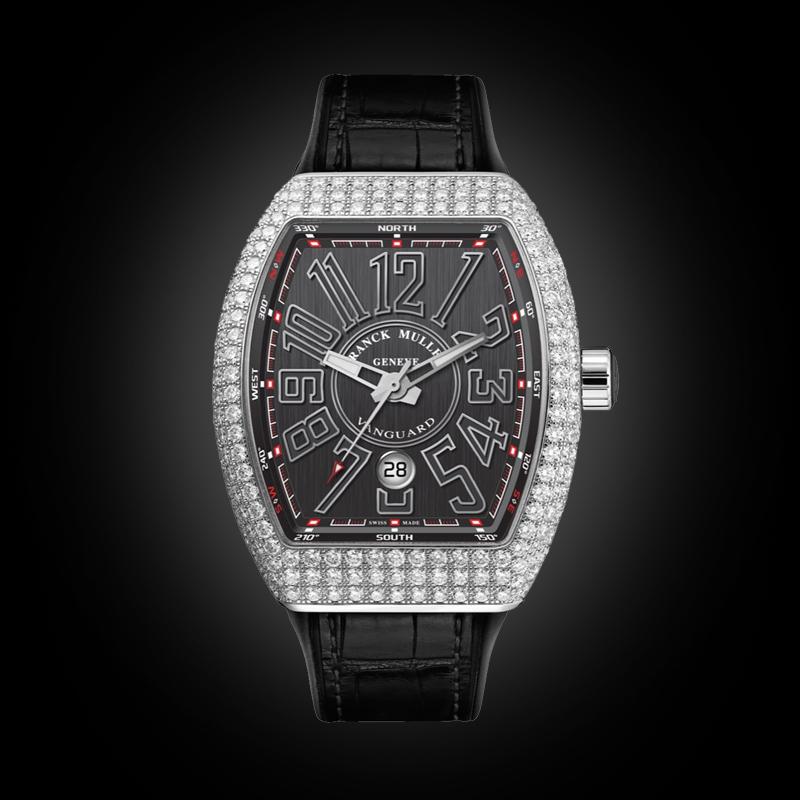 Franck Muller V41 Steel Full Diamonds