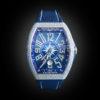 Franck Muller V41 Yachting Steel Full Diamonds