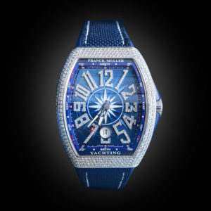 Franck Muller V41 Yachting Steel Full Diamonds