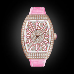 Franck Muller Vanguard Lady V32 Rose Gold Full Diamond Pink