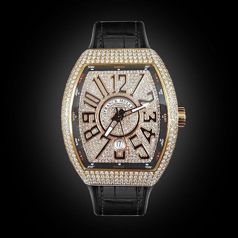 Franck Muller Vanguard Rose Gold Full Diamonds