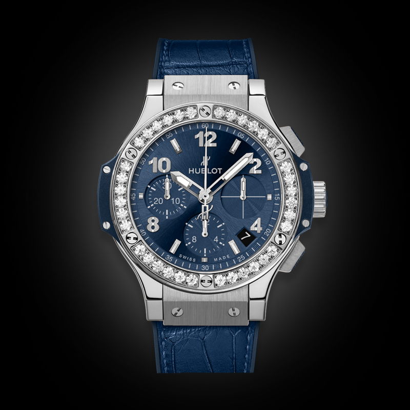 HUBLOT BIG BANG 41MM STEEL BLUE DIAMONDS