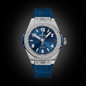 Siêu phẩm Hublot Bigbang One Click Steel blue Diamonds 39mm