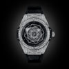 HUBLOT BIG BANG SANG BLEU STEEL PAVÉ 39MM