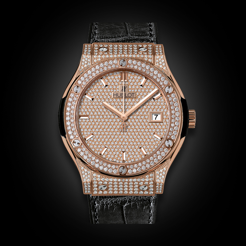 Hublot Classic Fusion King Gold Full Pavé