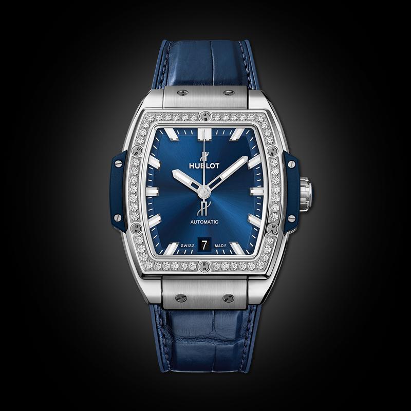 Hublot Spirit Of bigbang Titanium Blue Diamonds