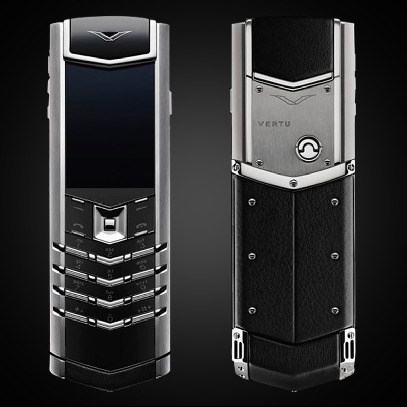 VERTU CŨ SIGNATURE S STAINLESS STEEL BLACK LEATHER