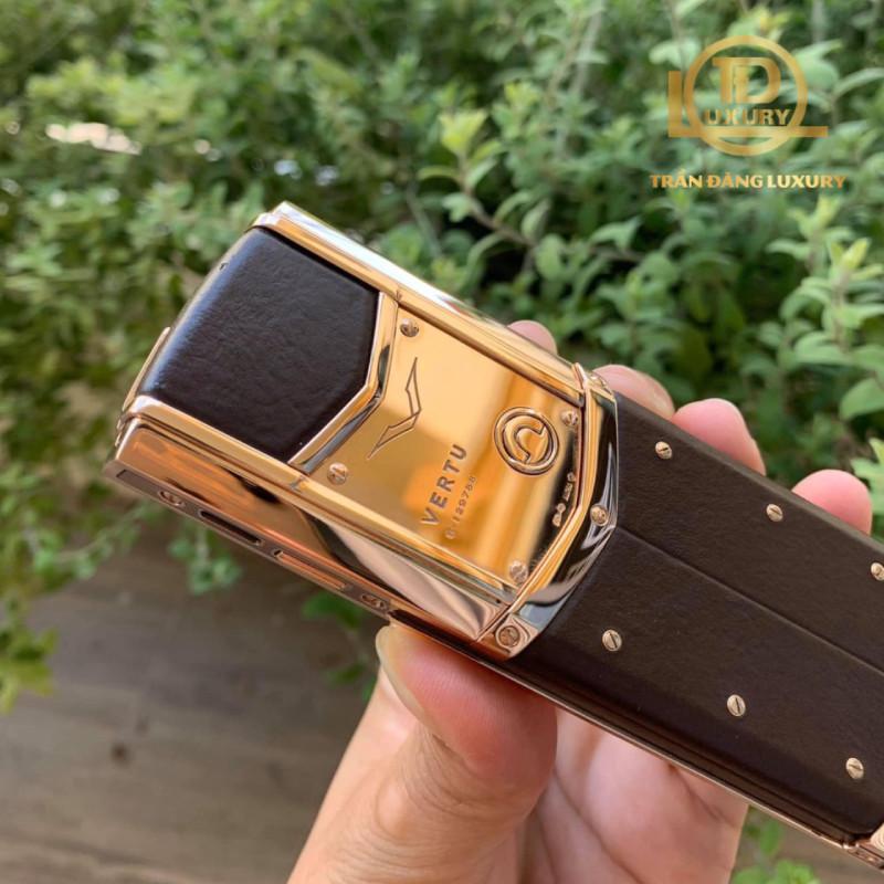 Vertu Signature S Chocolate Rose Gold 4