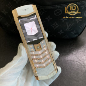 Vertu Signature S Equivalent Diamond Rose Gold Aligator Limited
