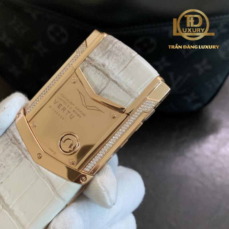 Vertu Signature S Equivalent Diamond Rose Gold Aligator Limited 5