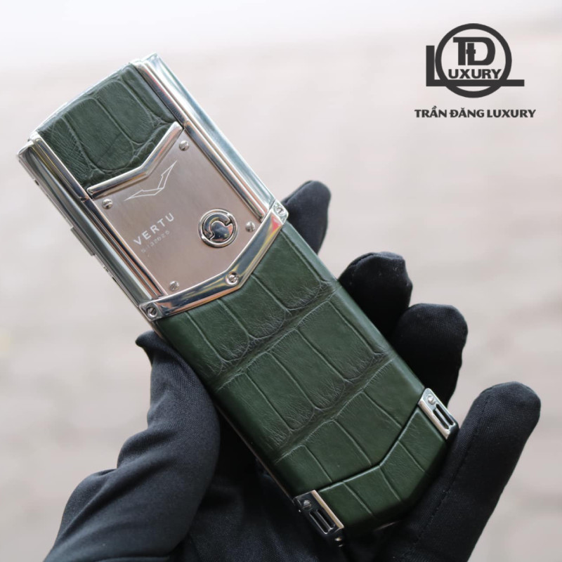 Vertu Signature S Steel Green Alligator