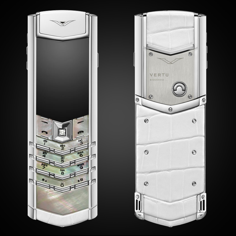 VERTU SIGNATURE S WHITE MOTHER OF PEARL MỚI 100%