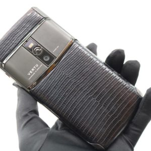 Vertu Signature Touch Pure Black Lizard New 2