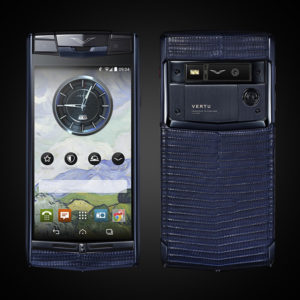 VERTU SIGNATURE TOUCH PURE NAVY LIZARD 2016 MỚI 100%