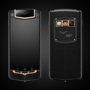 VERTU TOUCH TI BLACK MIXED RED GOLD